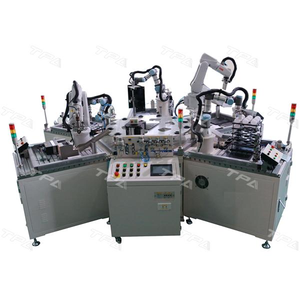 Hình ảnh hệ thống robot lắp ráp bóng đèn tự động