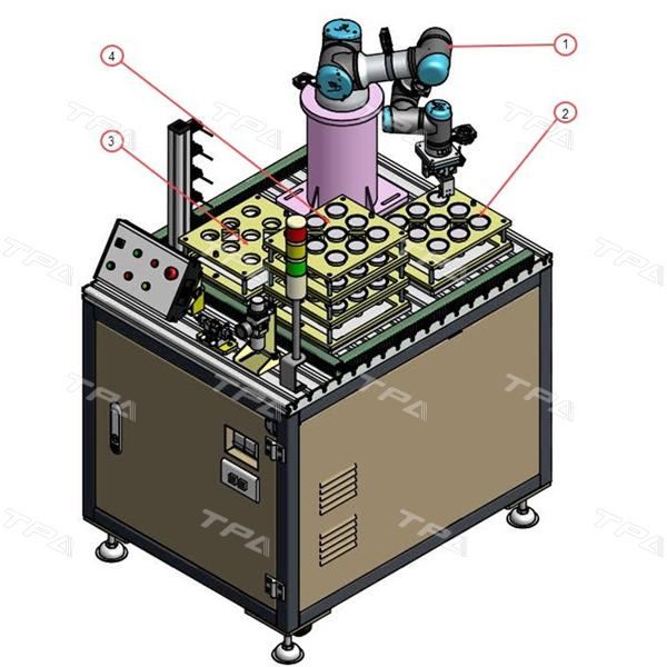 Mô hình trạm robot cấp đui đèn