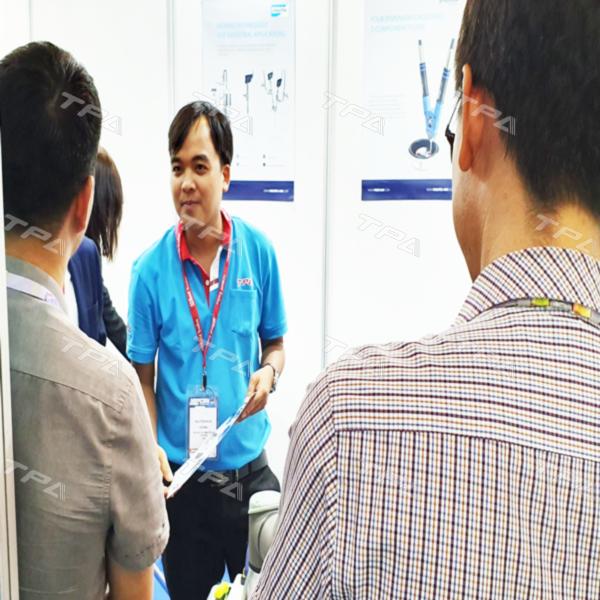 Hình ảnh gian hàng giới thiệu sản phẩm TPA tại triển lãm